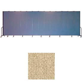 "Screenflex 13 Panel Portable Room Divider, 8'H x 24'1""L, Vinyl Color: Sandalwood"