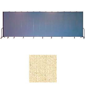 "Screenflex 13 Panel Portable Room Divider, 8'H x 24'1""L, Vinyl Color: Hazelnut"