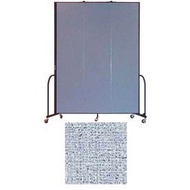 "Screenflex 3 Panel Portable Room Divider, 8'H x 5'9""L, Vinyl Color: Blue Tide"