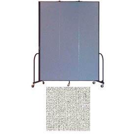 "Screenflex 3 Panel Portable Room Divider, 8'H x 5'9""L, Vinyl Color: Granite"
