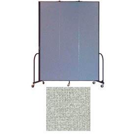 """Screenflex 3 Panel Portable Room Divider, 8'H x 5'9""""L, Vinyl Color: Mint"""