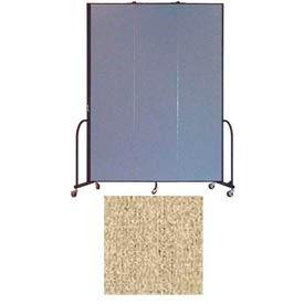 """Screenflex 3 Panel Portable Room Divider, 8'H x 5'9""""L, Vinyl Color: Sandalwood"""