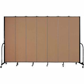 "Screenflex 7 Panel Portable Room Divider, 8'H x 13'1""L, Fabric Color: Beech"