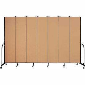 "Screenflex 7 Panel Portable Room Divider, 8'H x 13'1""L, Fabric Color: Sand"