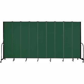 "Screenflex 9 Panel Portable Room Divider, 8'H x 16'9""L, Fabric Color: Mallard"