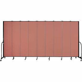 "Screenflex 9 Panel Portable Room Divider, 8'H x 16'9""L, Fabric Color: Cranberry"