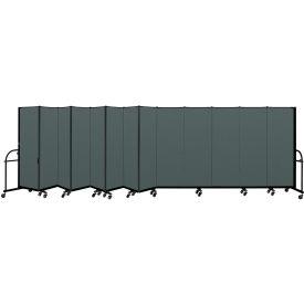 "Screenflex 13 Panel Heavy Duty Portable Room Divider - 6'H x 24' 1""L - Fabric Color: Mallard"