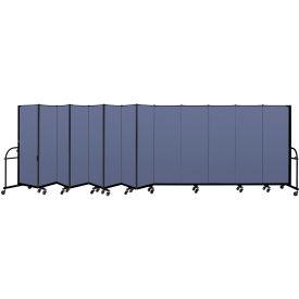 "Screenflex 13 PanelHeavy Duty Portable Room Divider - 6'H x 24' 1""L - Fabric Color: Blue"