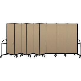 "Screenflex 9 Panel Heavy Duty Portable Room Divider - 6'H x 16' 9""L - Fabric Color: Desert"
