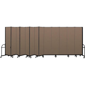 "Screenflex 13 Panel Heavy Duty Portable Room Divider - 7'4""H x 24'1""L - Fabric Color: Walnut"