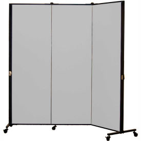 Healthflex Portable Medical Privacy Screen, 3-Panel, Stone