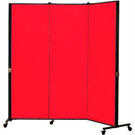 Healthflex Portable Medical Privacy Screen, 3-Panel, Primary Red