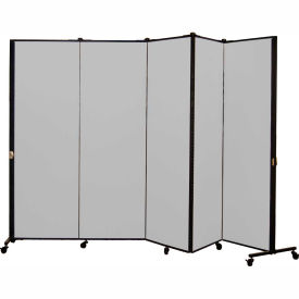 Healthflex Portable Medical Privacy Screen, 5-Panel, Stone