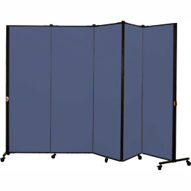 Healthflex Portable Medical Privacy Screen, 5-Panel, Vinyl Blue Tide