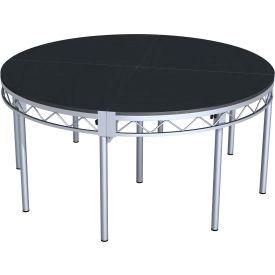 """Steeldeck® 4RSDP8L 48"""" Round Deck, 8"""" Legs, Steel"""