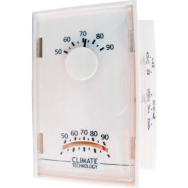 Supco 43005A Mechanical Wall Thermostat 50°F To 90°F Operating Temp 24V