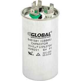 Global Industrial™ B461581, 30 +/- 5% MFD, 370V, Run Capacitor, Round