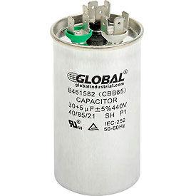 Global Industrial™ B461582, 30 +/- 5% MFD, 440V, Run Capacitor, Round