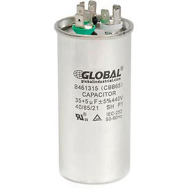 Global Industrial™ B461315, 35 +/- 5% MFD, 440V, Run Capacitor, Round