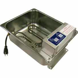 Supco Commercial Condensate Evaporator Pan 15 Quart 240 Volt 1500 W by