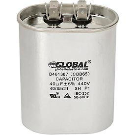 Global Industrial™ B461387, 40 +/- 5% MFD, 440V, Run Capacitor, Oval