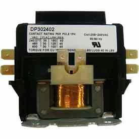 Supco Dp40242 Contactor 40a 24v 2 Pole - Pkg Qty 4