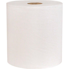 Sellars® 1-Ply Hard Wound Roll Towel White- 800', 6 Rolls/Case 183211