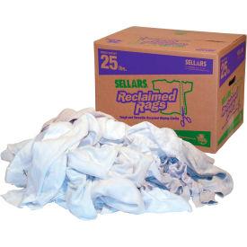 Sellars® Reclaimed Rags - White Fleece, 25 Lbs. 99203