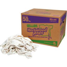 Sellars® Reclaimed Rags - White Turkish Towel, 50 Lbs. 99212