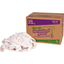 Sellars® Reclaimed Rags - White Knit/Polo, 25 Lbs. 99215