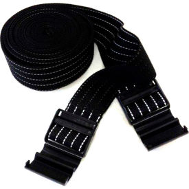 """Park Sentry® Black Reflective Strap with Strap Lock Buckle, 100""""L x 2""""W, Set of 2"""