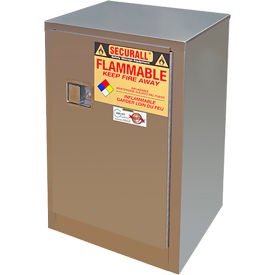Securall® 12-Gallon Manual Close, Flammable Cabinet Stainless Steel