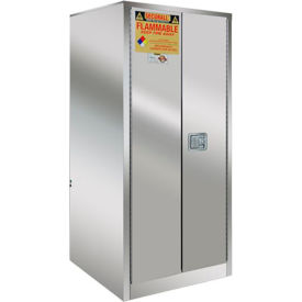 Securall® 60-Gallon Manual Close, Flammable Cabinet Stainless Steel