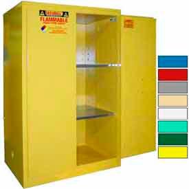 Securall® 90-Gallon, Manual Door, Flammable Cabinet Yellow