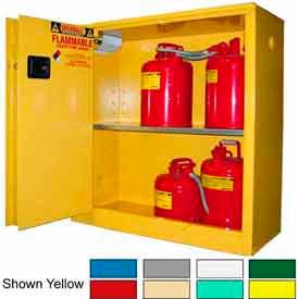 Securall® 43x18x44 30-Gallon Sliding Door, Flammable Cabinet Ag Green