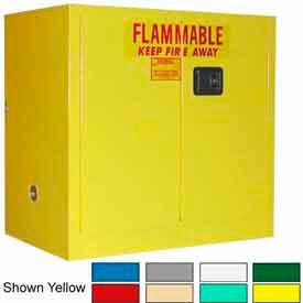 Securall® 36x24x35 30-Gallon Sliding Door, Flammable Cabinet Md Green