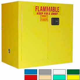 Securall® 36x24x35 30-Gallon Sliding Door, Flammable Cabinet Yellow