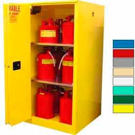 Securall® 60-Gallon Sliding Door, Flammable Cabinet Yellow