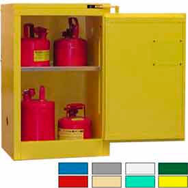 Securall® 12-Gallon, Self-Close Flammable Cabinet Yellow