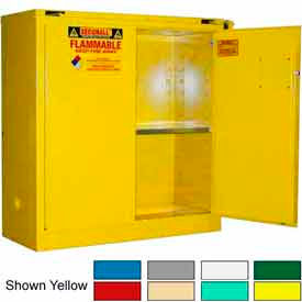 Securall® 43x18x46 30-Gallon, Self-Close Flammable Cabinet Ag Green