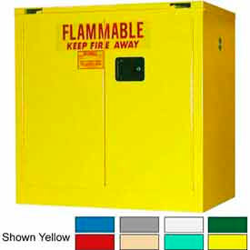 Securall® 36x24x37 30-Gallon, Self-Close Flammable Cabinet Red