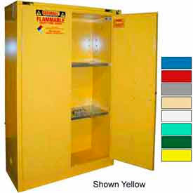 Securall® 45-Gallon, Self-Close Flammable Cabinet White