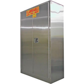 Securall® 45-Gallon Self-Close Flammable Cabinet Stainless Steel