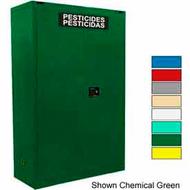 Securall® 45-Gallon Manual Close, Pesticide Cabinet Yellow