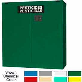 Securall® 30-Gallon Self-Close, Pesticide Cabinet Md Green