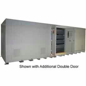 "Securall® 42'W x 8' x 8' 4""H Agri Chemical Storage Building 80 Drum"