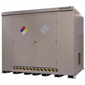 """Securall® 10'W x 8'D x 8' 4""""H Hazmat Chemical Storage Building 16 Drum"""