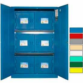 Securall® 45-Gallon Manual Close, Acid & Corrosive Cabinet Blue