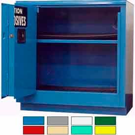 Securall® 24-Gallon Sliding Door, Acid & Corrosive Cabinet Blue