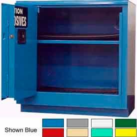 Securall® 24-Gallon Sliding Door, Acid & Corrosive Cabinet Yellow